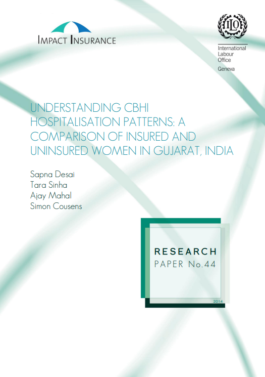 Understanding CBHI hospitalisation patterns: A comparison of insured and uninsured women in Gujarat, India