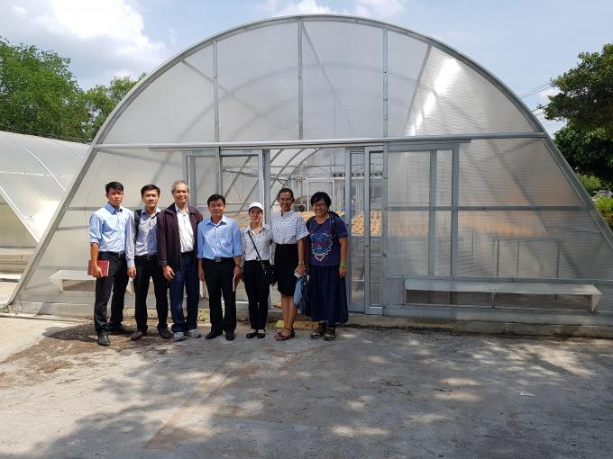 Photo: Agitech's delegate and Dr. Serm Janjai (3rd from left), at Silpakorn University's campus