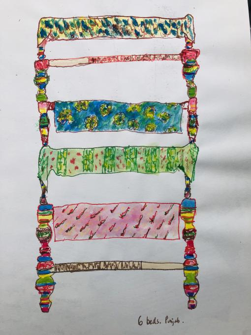 Childs drawing of beds