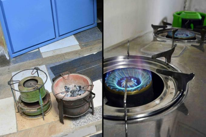 Charcoal and LPG cookstoves