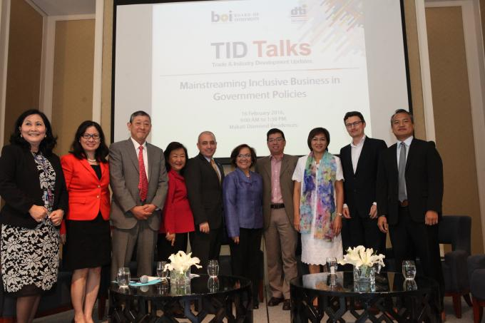 During TID Talks (Trade and Industry Development Updates), a forum to mainstream Inclusive Business in government policies in 2016