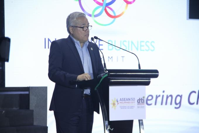 DTI Secretary Ramon Lopez as keynote speaker during the 2017 ASEAN Inclusive Business Summit