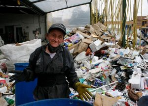 Colombian waste picker