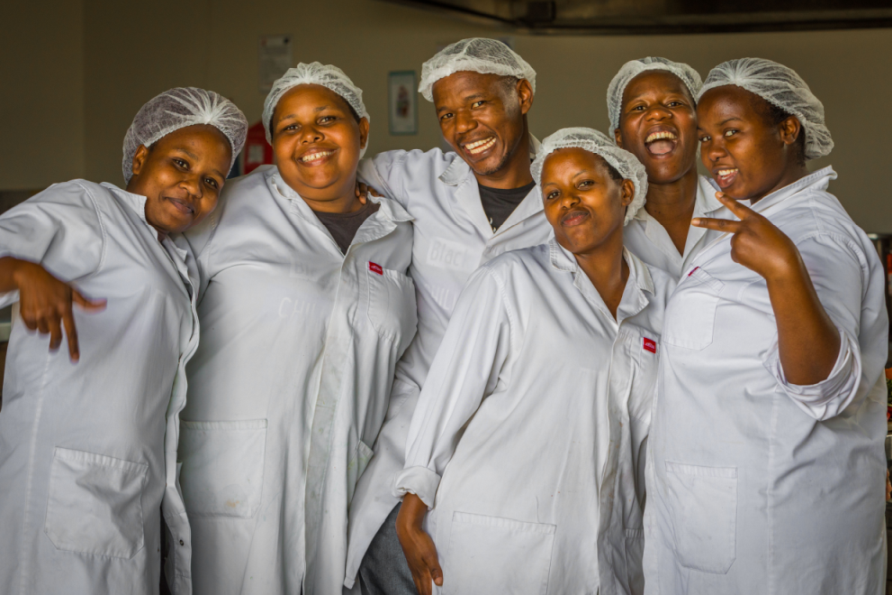Production workers at inclusive business Black Mamba