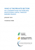Who is the private sector? Key considerations for mobilizing institutional capital through blended finance