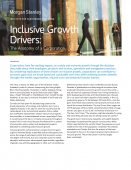 Inclusive Growth drivers