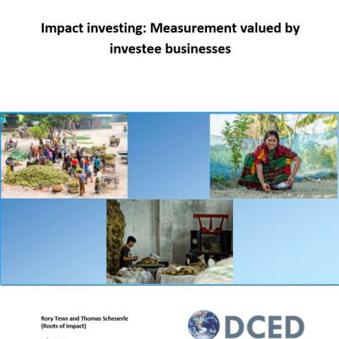 Impact investing: Measurement valued by investee businesses