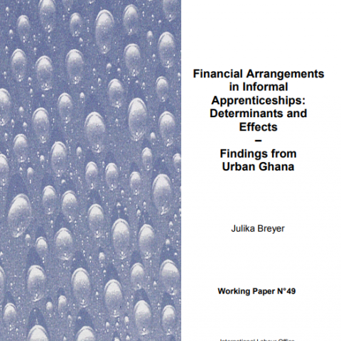Financial arrangements in informal apprenticeships : determinants and effects : findings from urban Ghana