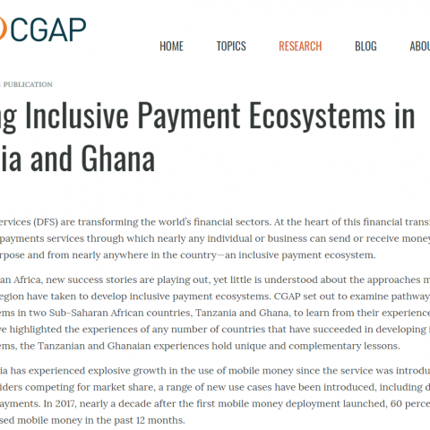Building inclusive payment ecosystems in Tanzania and Ghana