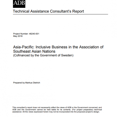 Asia-Pacific: Inclusive business in the association of Southeast Asian Nations