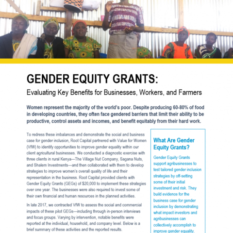 Gender Equity Grants: Evaluating Key Benefits for Businesses, Workers, and Farmers