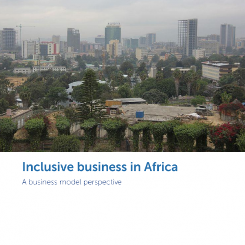 Inclusive business in Africa - A business model _ RSM 2020 title page