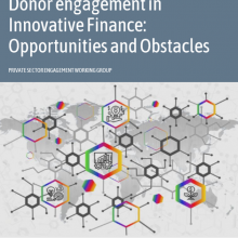 Donor engagement in innovative finance