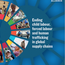 Cover of child labor and human trafficking report