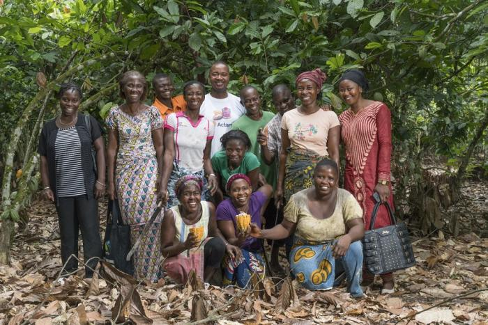 group of cocoa farmers in Ghana